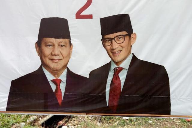 Timses Minta Usut Tuntas Kasus Perusakan Baliho Prabowo-Sandi