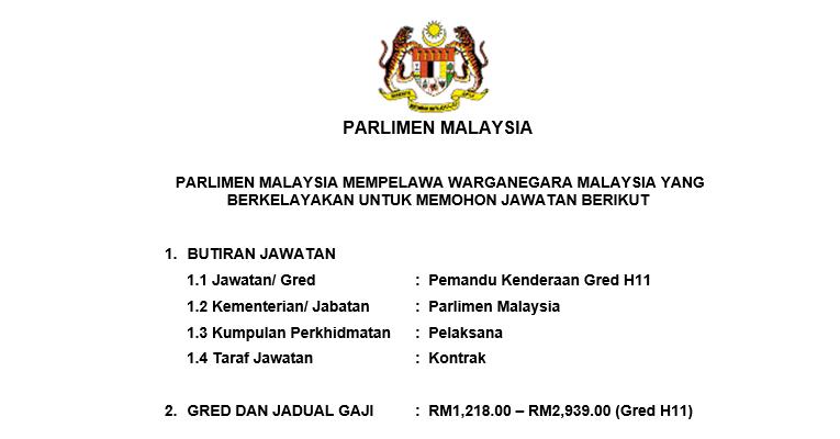 Jawatan Kosong di Parlimen Malaysia 2019