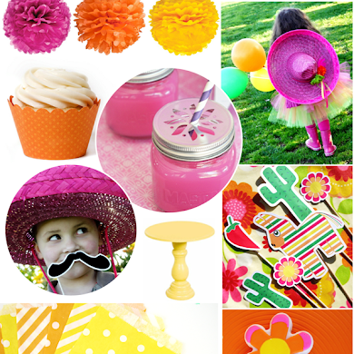 Pink, Orange, Green & Yellow Cinco de Mayo Party Ideas