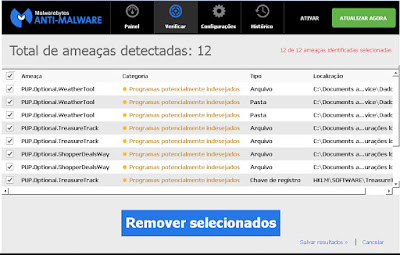 Remover malwares