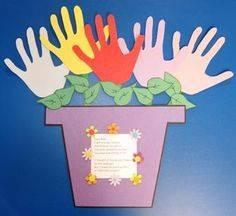 Idea to make flowers from paper handprint for kids 7