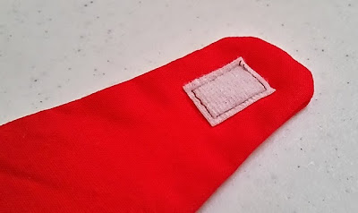 Velcro pieces for the Superman cape collar