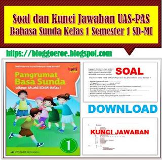 Download Soal Dan Kunci Jawaban Uas Pas Bahasa Sunda Kelas 1 Semester 1 E Guru
