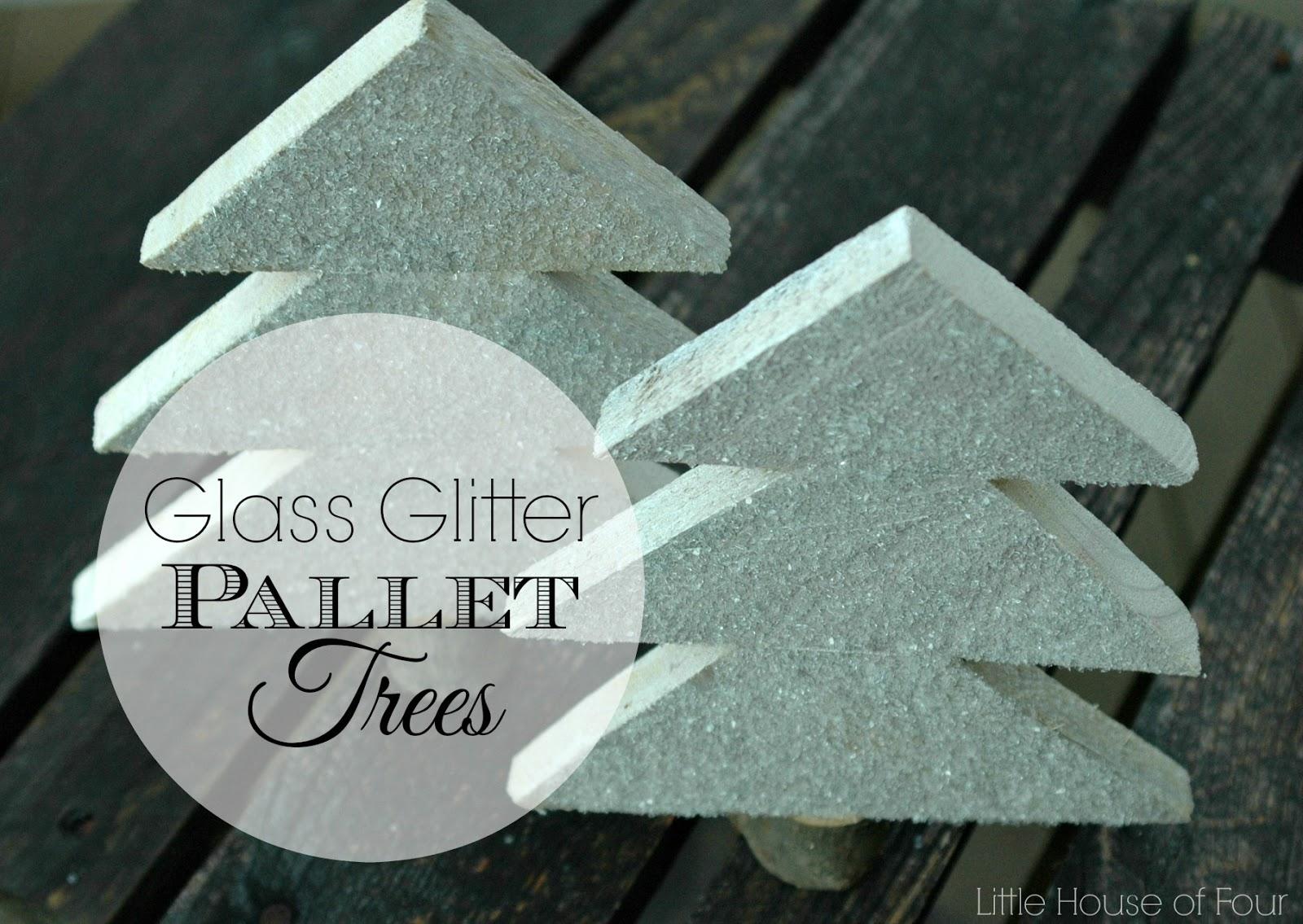 Pallet glitter christmas trees