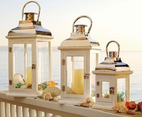 10 Pillar Candle Holder Ideas With A Beach And Coastal