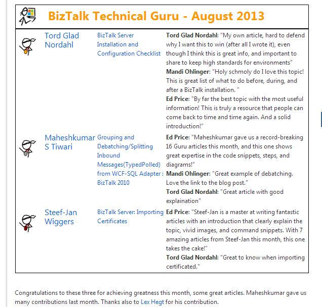 BizTalk Technical Guru