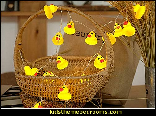 Yellow Duck String Lights   rubber duck theme bedrooms - rubber duck decor - yellow duck theme decorating ideas - rubber duck bedding - duck bedding - ducky bedding - rubber duck wall decal stickers - duck themed bed - duck headboard - ducky toddler bed - duck bedroom decor