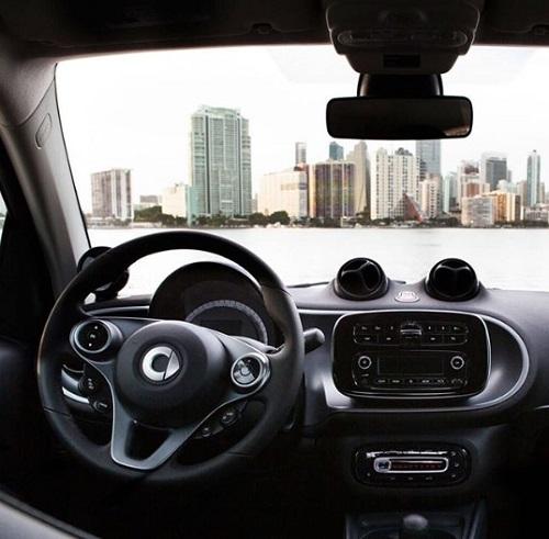 harga mobil listrik smart, interior design review