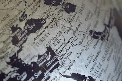 シリアと周辺国の地図