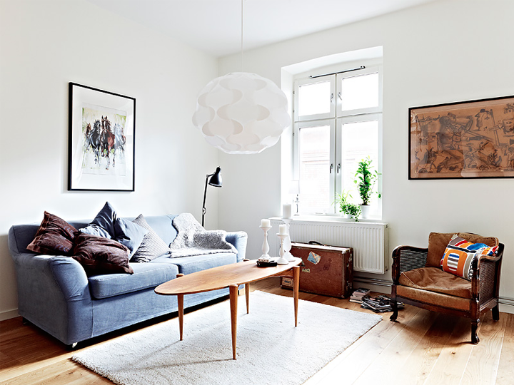 Mixture Of Old And New Furniture In A Swedish Apartment 79