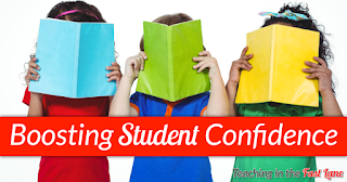 7 Easy Ways to Boost Student Confidence! #3 and #6 are sure to get your students thinking more positively!