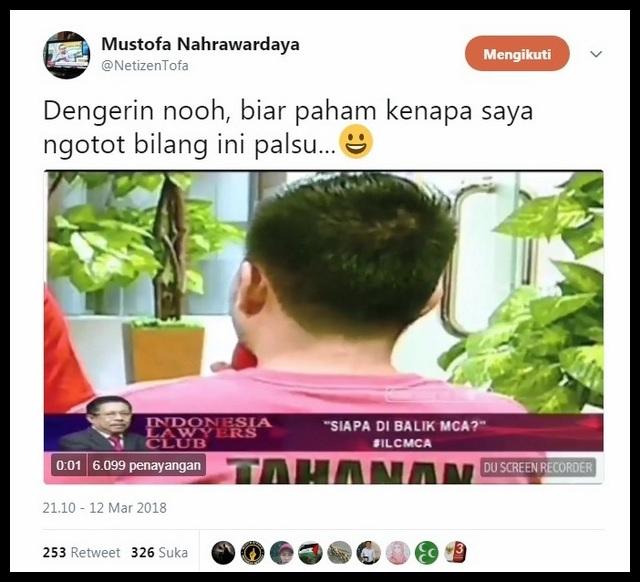 "Video ""MCA Gadungan"" Keseleo Lidah, Mustofa: Dengerin nooh, kenapa saya ngotot bilang ini palsu"