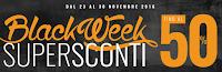 Logo Un lungo Black Weekend con sconti fino al 50% e il 7% di sconto sicuro su tutto!