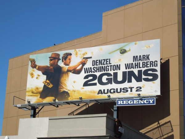 2 Guns movie billboard
