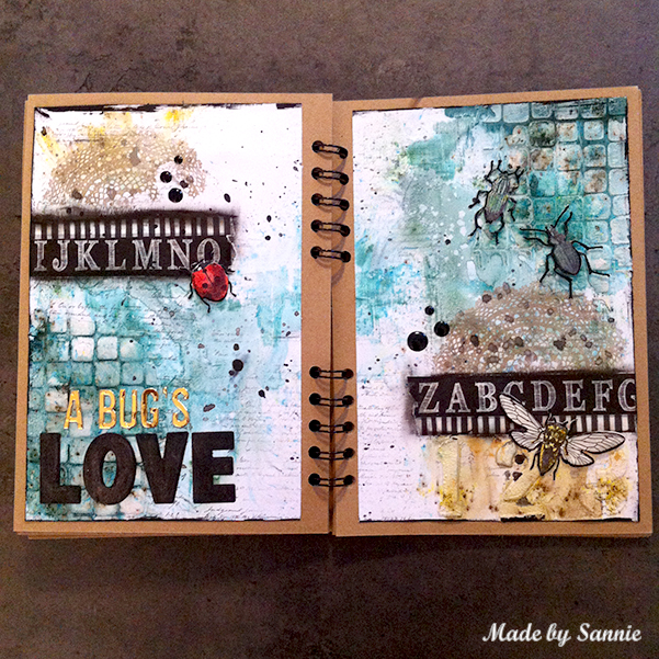A Bug S Love Art Journal Spread With Video Tutorial Made By Sannie