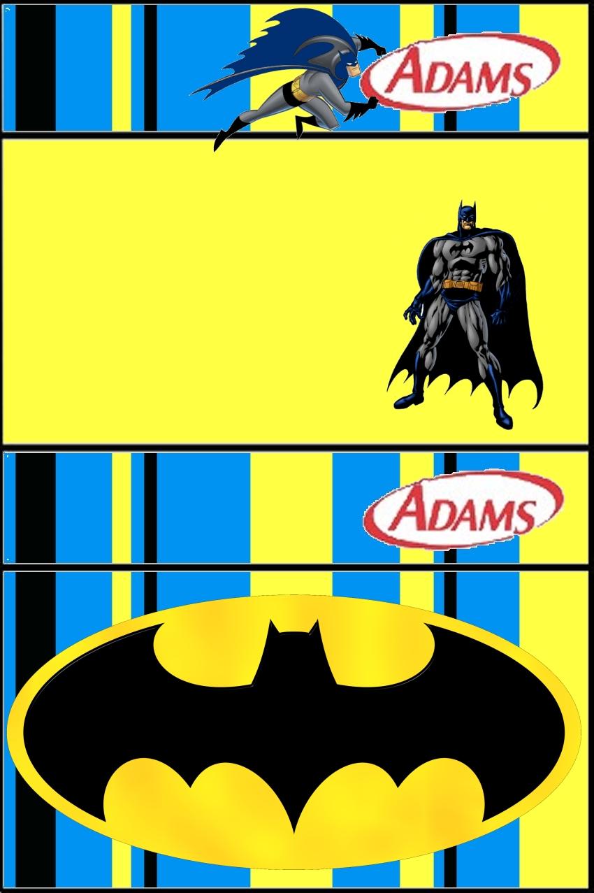 batman free printable candy bar labels