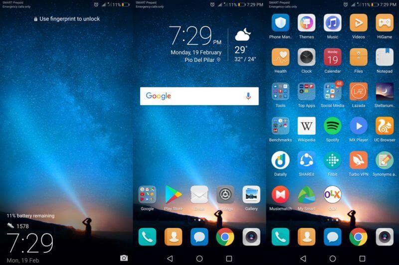 Huawei Nova 2i Homescreen