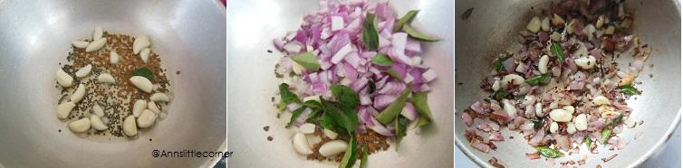 How to make Poondu Puli Kuzhambu - Step 2