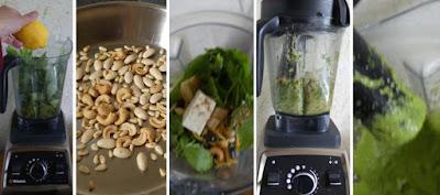 Zubereitung Liebstöckel-Pesto