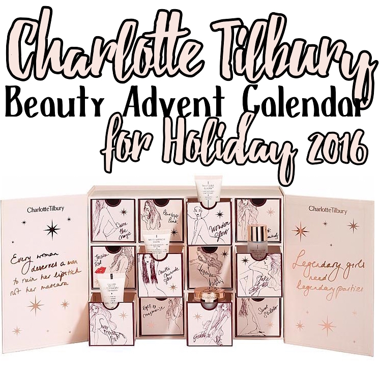 Contents of the Charlotte Tilbury World Of Legendary Parties Beauty Advent Calendar 2016 (ships worldwide).
