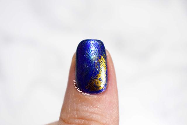 Beauty Big Bang XL-065 nail art stamping plate peacock nails