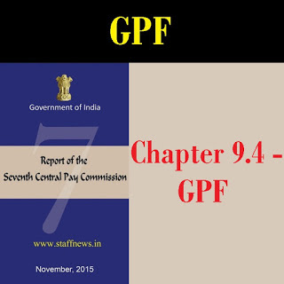 7CPC Report General Provident Fund