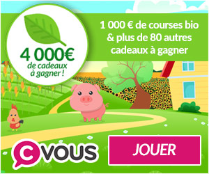Gagnez 1000 euros de courses bio ...