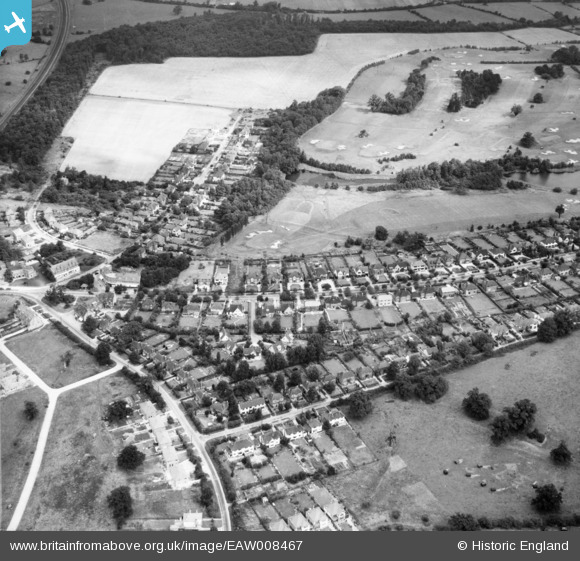 Photograph of Residential area around Brookmans Avenue and Bradmore Green, Brookmans Park, 1947