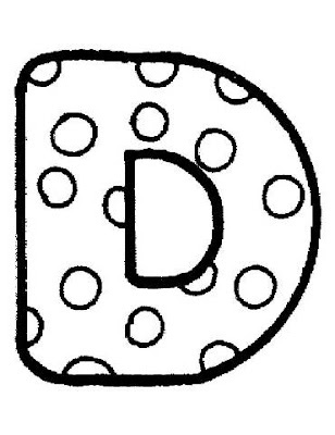 Bubble letter d coloring pages
