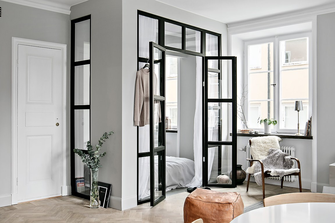 Minimalism scandinav într-un apartament de 48 m²