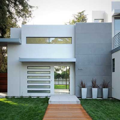 Fachadas de casas estilo minimalista proyectos de casas for Casa minimalista 3 pisos