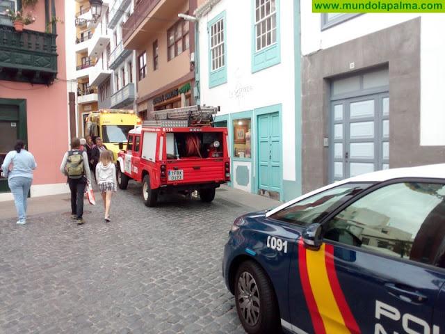 Incendio en una vivienda de la calle Garachico de Santa Cruz de La Palma