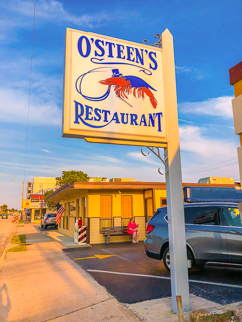 Outside O'Steen's Restaurant - St Augustine FL
