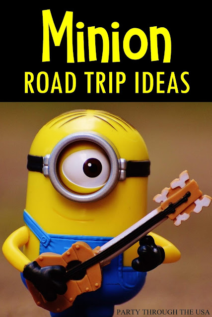 Our Minion Road Trip- a Summery // Party Through the USA // themed road trip // Minions // yellow // party // minion food // sensory bottle // i-spy bottle