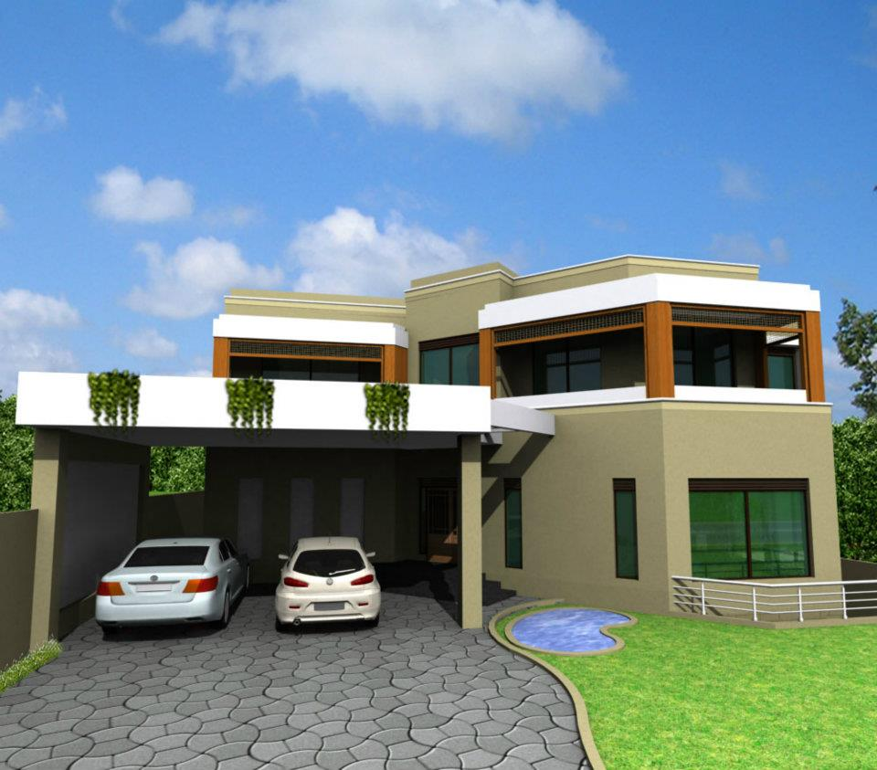 Home Design Exterior Ideas In India: Modern Homes Exterior Designs Ideas.