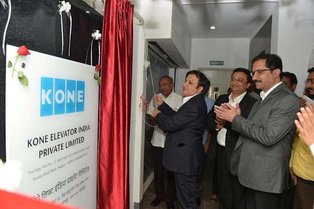 Mr. Amit Gossain, MD KONE India inaugurating Bigger Office in Nagpur today 1