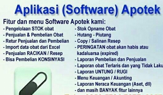Software Apotek, Toko Obat, Beauty Care, Klinik Kecantikan