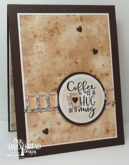 ODBD Hug In A Mug Stamp/Die Duos, ODBD Custom Clouds and Raindrops Dies, ODBD Custom Pierced Rectangles Dies, ODBD Custom Pierced Circles Dies, ODBD Custom Circles Dies, Card Designer Angie Crockett