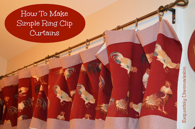 How to make ring clip rooster curtains