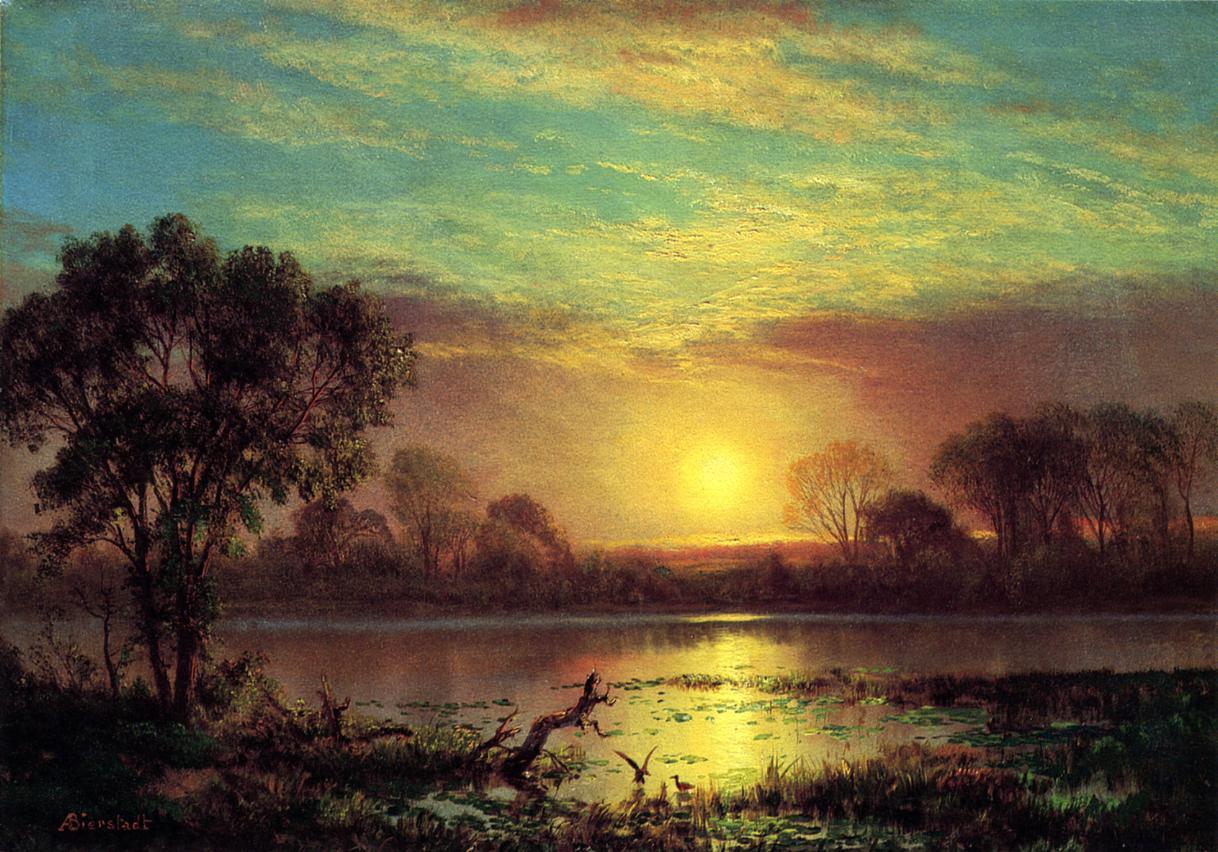 Oil paintings art gallery: Paintings By Albert Bierstadt ...