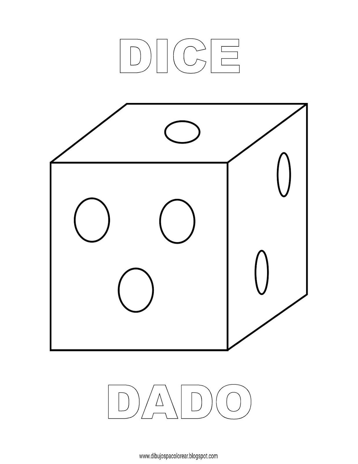 Dibujos Inglés Español Con D Dado Dice