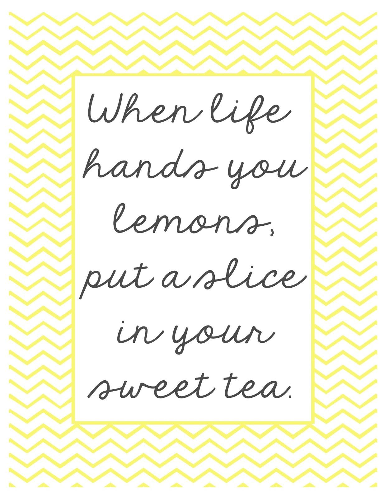 When Life Hands You Lemons Printables