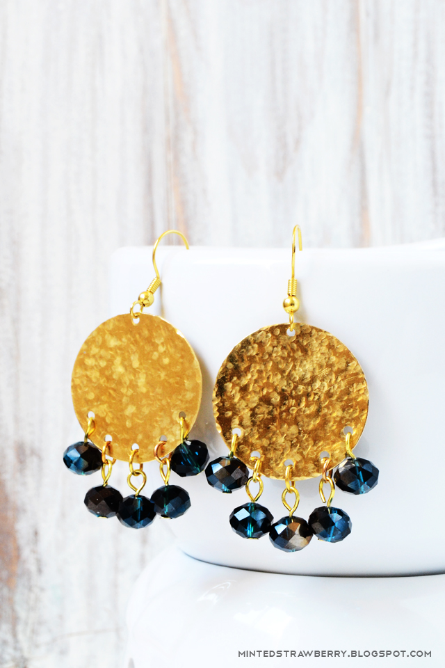 summer boho crystal earrings gold