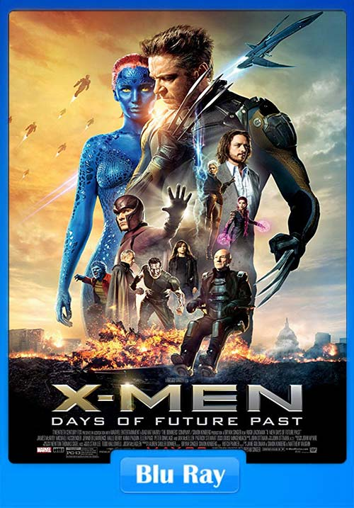 X Men Days of Future Past 2014 Blu-Ray Esub 720p Dual Audio English Hindi  | 480p 300MB | 100MB HEVC