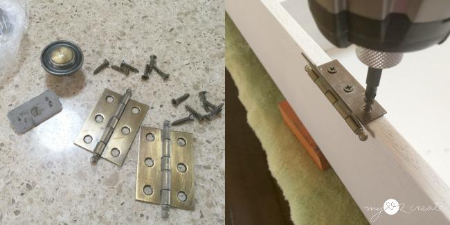 adding hinges for door