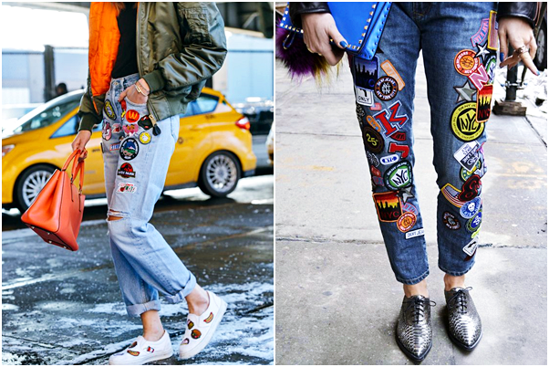 Tendência: Jeans com Patches calça