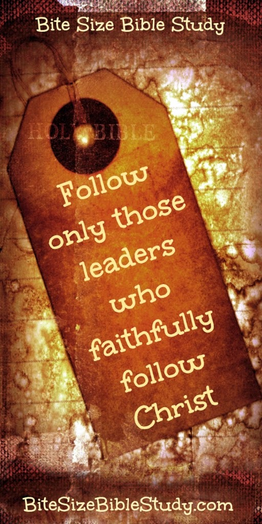 Follow The Leader Bible Study - The Youth Cartel