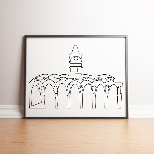 Il·lustració del Celler Modernista de Sant Cugat