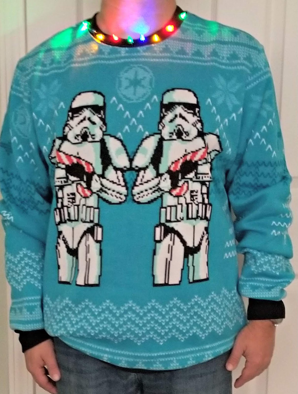 Boba Fett Christmas Sweater.A Geek Daddy Ugly Christmas Sweaters