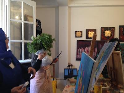 Les retrouvailles des artistes de l'atelier Artemisia 12